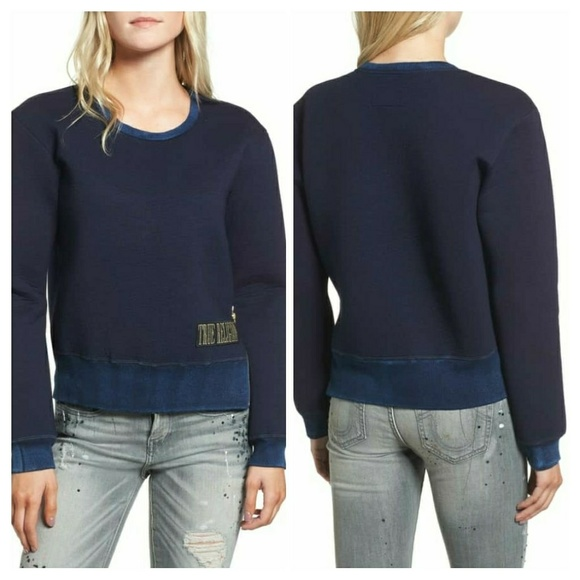 171b97a483 True Religion Womens Zippered Neoprene Sweatshirt NWT